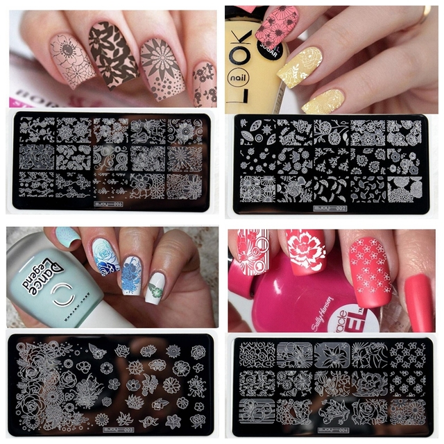 10 Styles Zjoy Nail Printer Nail Art Stamping Plates Manicure ...