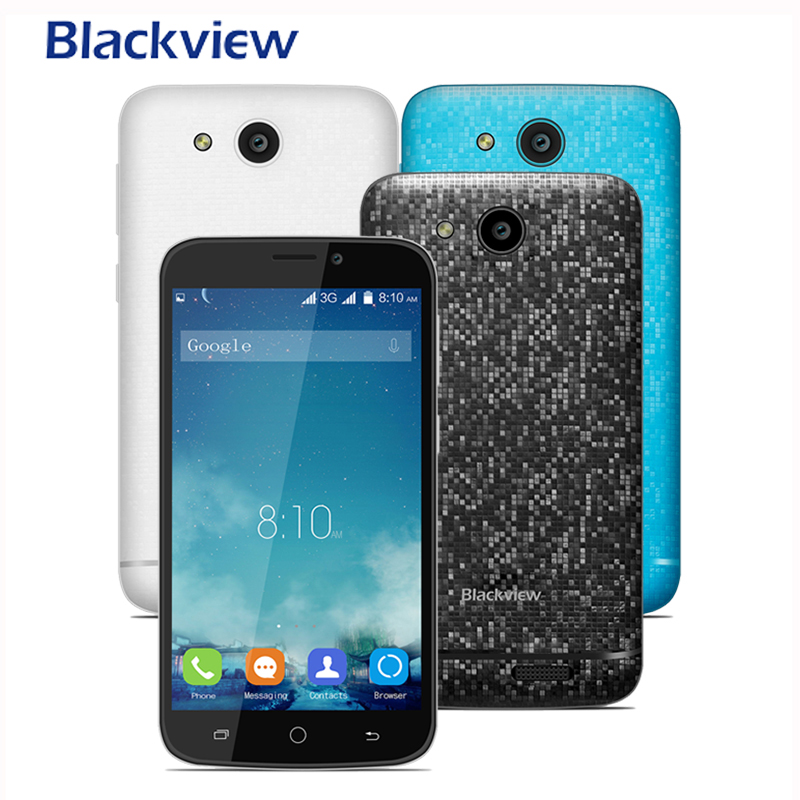 Blackview A5 Mobile Phone MTK6580M Quad Core 1 3GHz 3G Smatphone 8G ROM 1G RAM Android