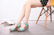 Women sandals fashion women's open toe wedges sandals platform wedges shoe high heels sandals women