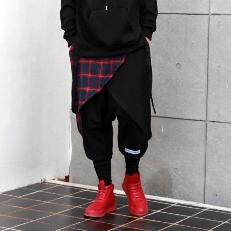 Nouveau 1 Danse 2 Pièces Gd Cheveux Harem Faux Mode Vêtements Rue Styliste Hiphop De Deux Hommes Costumes 2018 Pantalon TUdwqx1PfT