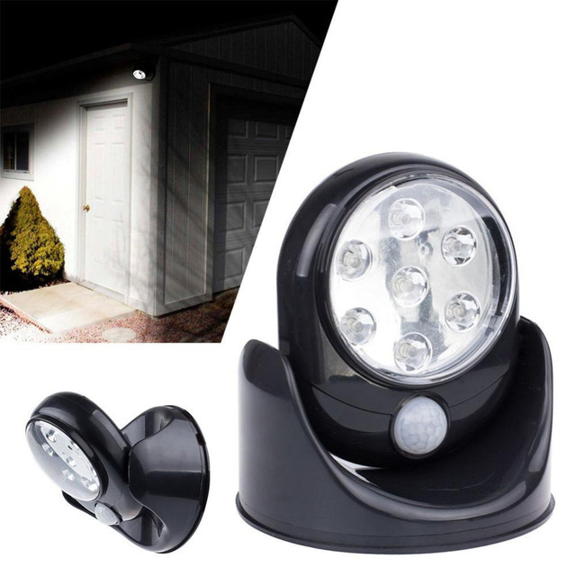 45v 7 leds cordless motion activated sensor light lamp 360 degree 45v 7 leds cordless motion activated sensor light lamp 360 degree rotation wall lamps black aloadofball Gallery