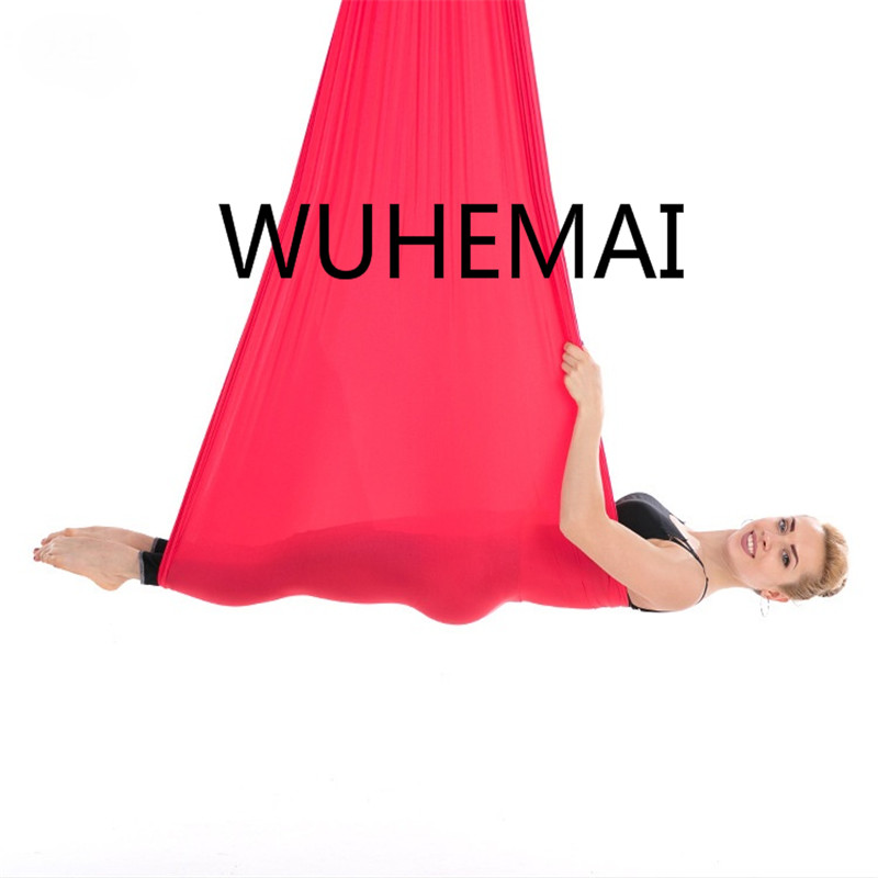 Wuhemai vol Anti-gravité yoga hamac balançoire tissu dispositif de Traction aérienne la ceinture de yoga professionnelle de la salle de yoga élastique - 3