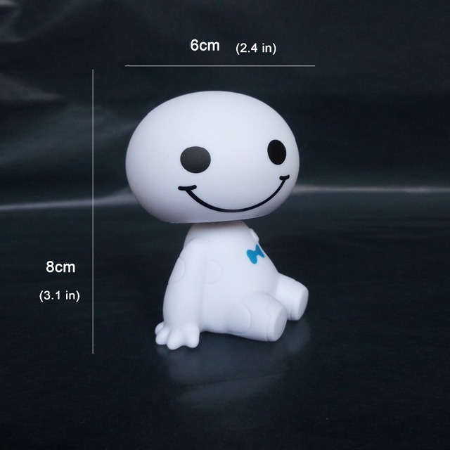 Shake Head Doll Fashion Car Ornaments Robot Big Hero Shaking Toys Baymax Auto Style Decoration Cartoon Plastic Figure Ornament