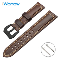 Italy Genuine Oil Leather Watchband For Pebble Time Steel Samsung Gear 2 Neo Live Vector Quick