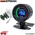 EPMAN racing 52mm Smoked LED Digital Water Temperature Temp Meter  with Sensor bracket EP-GA50WAT-FS