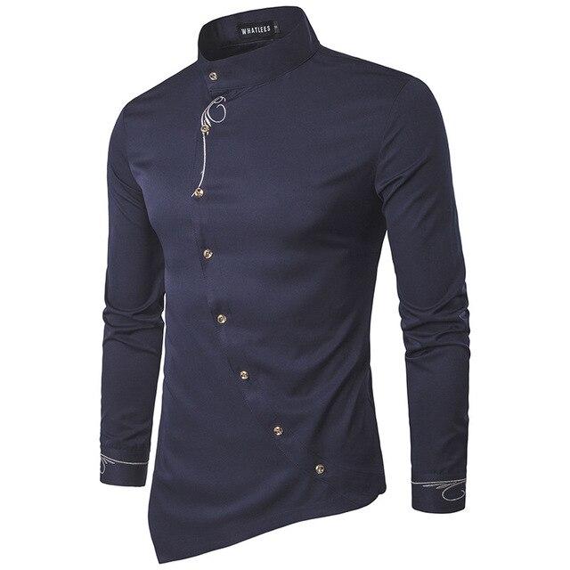 Spring New Dress Shirt Men Designs Buttons Vintage Fashion Slim Tuxedo Social Shirts 5colors Blouse Men Tops Plus Size XXL Z10