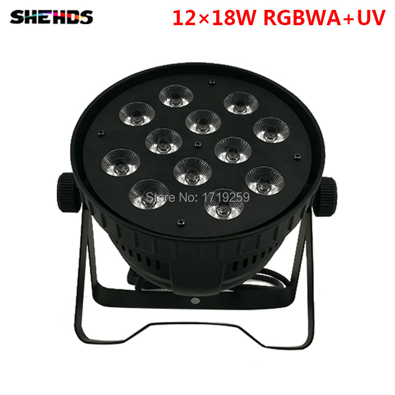 Free Shipping Aluminum alloy LED Par12x18W RGBWA+UV and mixed color Light Wash Light For DJ Disco KTV and Party,SHEHDS.