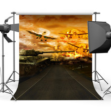 Mehofoto Tank War Plane Photo Backgrounds Backdrops for Children Photography Photo Studio CM-2003(China)