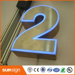High quality frontlit LED alphabet letter signs with acrylic