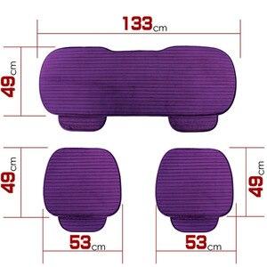 Image 5 - Universa protetor de assento de carro almofada da esteira tampas de assento de automóveis frente para trás do assento de automóvel capa quente veludo almofada do assento de carro