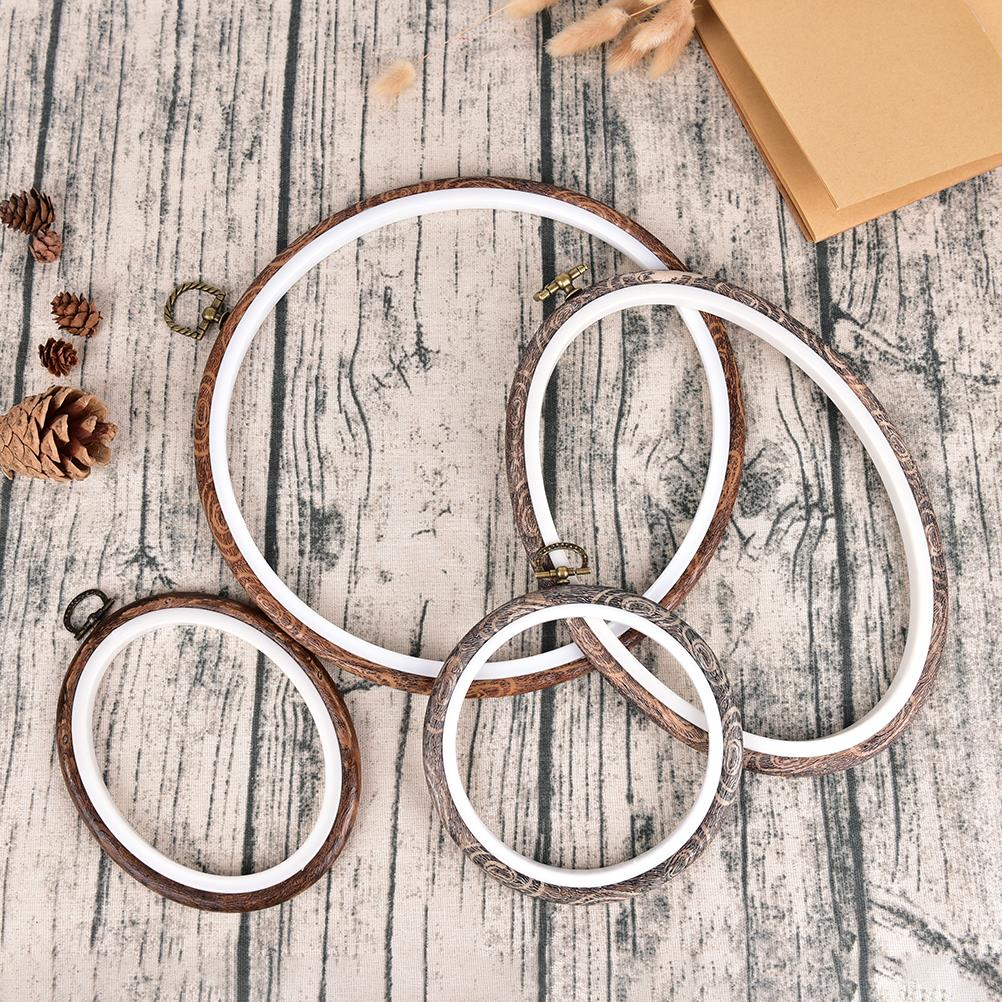 12 29cm Practical Embroidery Hoops Frame Set Bamboo Wooden Embroidery Hoop Rings for DIY Cross Stitch Needle Craft Tools-in Sewing Tools & Accessory from Home & Garden