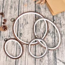 12 29cm Practical Embroidery Hoops Frame Set Bamboo Wooden Embroidery Hoop Rings for DIY Cross Stitch Needle Craft Tools