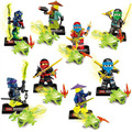 [Bainily]8pcs/lot Legoes Ninjagoes Series Building Blocks Bricks Set to Children Enligh Toys for children as friends gifts