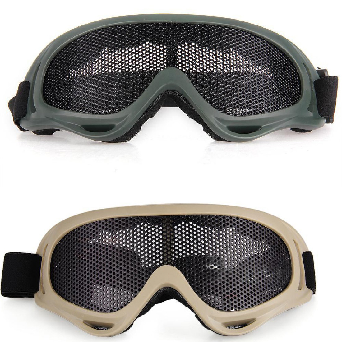Pro Anti-Fog CS Airsoft Tactical Anti Fog Metal Mesh Big Goggles Eye Safety Protection Glasses For Airsoft Desert Hunting