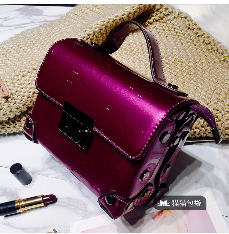 national chinese style handbags patent leather bag tote bolsa bags new fashion flowers ladies printing women female handbag Brand Fashion Casual Women Shoulder Bags Silver Gold Patent leather Handbag PU Leather Female Big Tote Bag Ladies Hand Bags Sac
