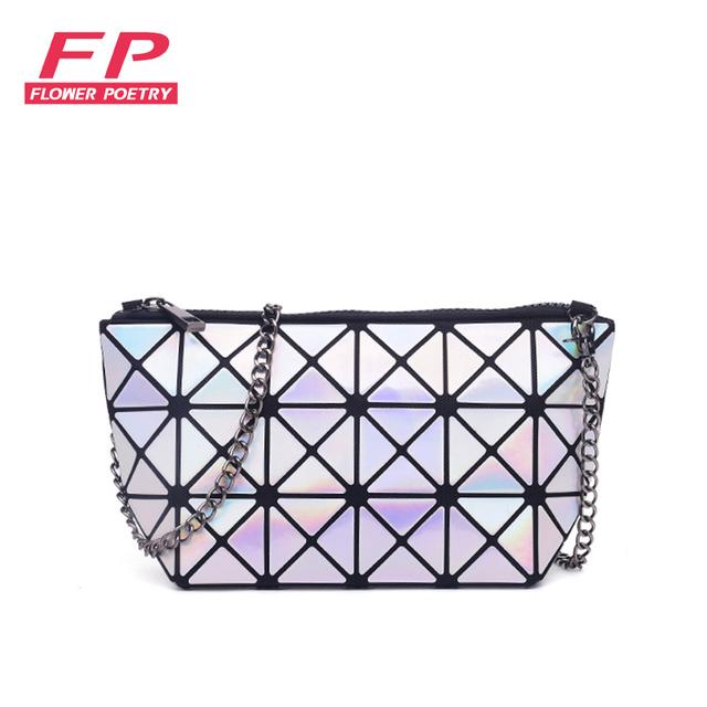 Moda Geometria Saco BAOBAO Pacote Quente Sacos de Ombro Meninas Mulheres Dobráveis Simples Bolsas de Ombro Messenger bag