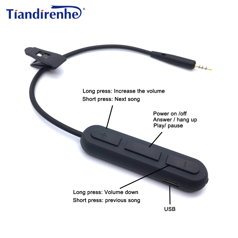 Newest Wireless Bluetooth Cable for Bose OE2 OE2i QC25 Headphone Transmitter Adapter 2.5mm Audio Cables Cord for iPhone Android syllable e3 bluetooth box 3 5mm audio transmitter for computer iphone