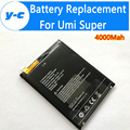 UMI Super Battery Li3834T43P6H8867 100% New larger Capacity 4000mAh Backup Battery Replacement For UMI Super