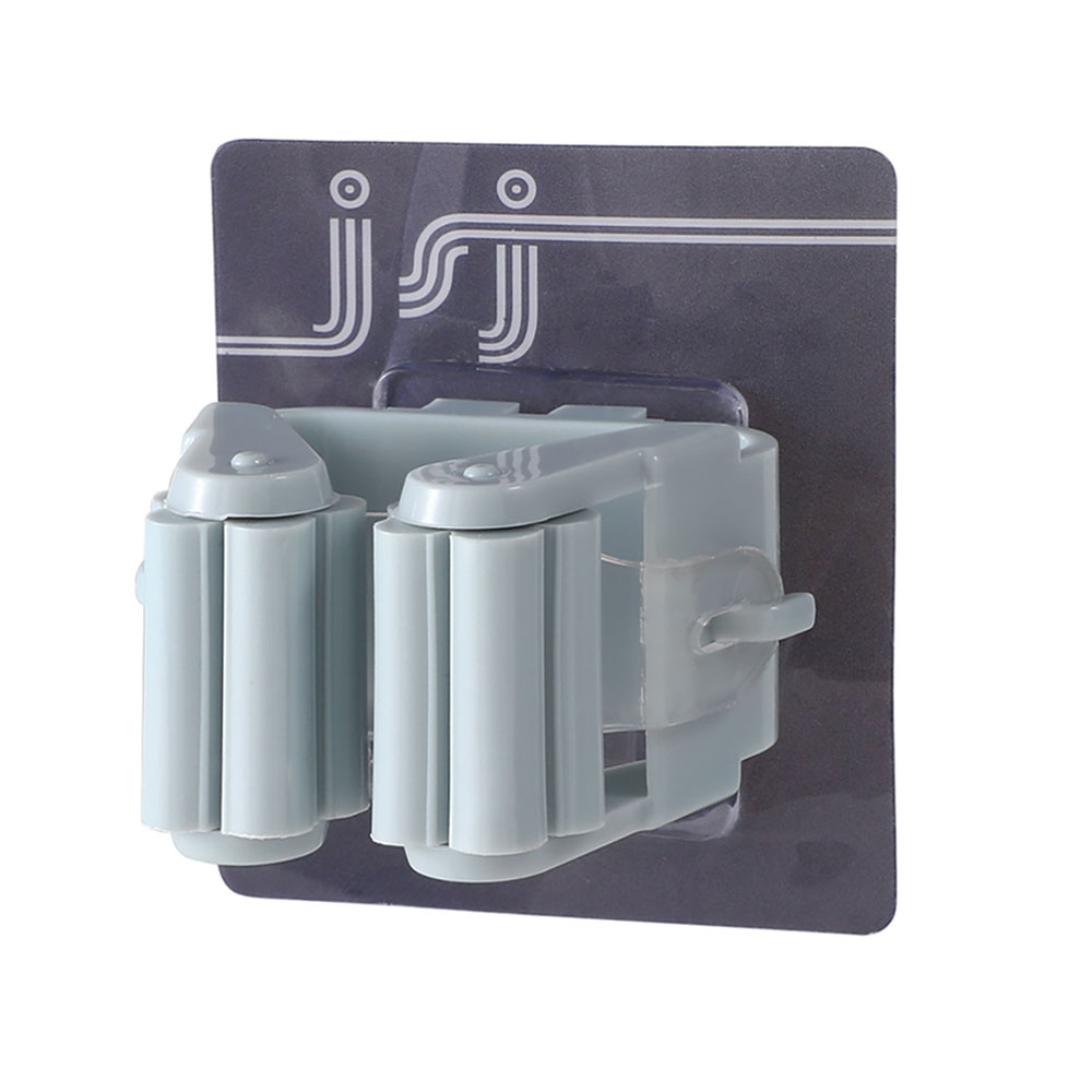Вешалка держатель для швабры зажим для швабры Органайзер настенный портативный Настенный Съемный - Цвет: blue