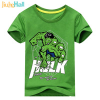 Jiuhehall Summer New Arrival Kids Marvel Hulk Short Sleeve T Shirts Cotton Baby Boys Clothing Cotton
