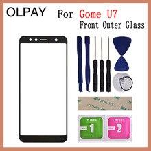 "OLPAY 5.99 ""Gome U7 패널 용 100% 오리지널 터치 스크린 전면 외부 유리 터치 스크린 패널 교체 부품 NO LCD 디지타이저"