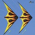 Diversão ao ar livre esportes 1.6 m linha dupla Stunt Kite com alça e linha de chama de papel Outlet