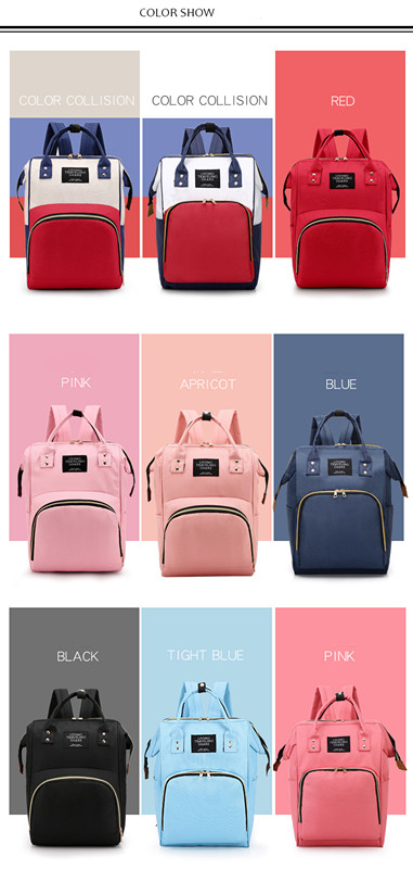 HTB1uLu8XEGF3KVjSZFmq6zqPXXaP Multi-Function Mummy Maternity Nappy Bag Fashion Patchwork Large Capacity Baby Bag Travel Backpack Nursing Bag for Mom Designer