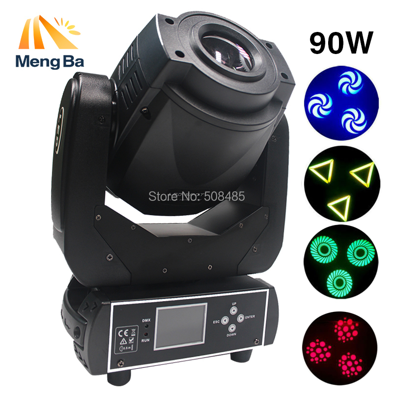 High Power 90W Gobo LED Moving Head Light 3 Face Prism DMX512 Controller LCD Display DJ spot light for Stage Disco club Party 2xlot led moving head spot lights 330w led lamp high power professional led moving head light lcd display 5 35 motorized focus