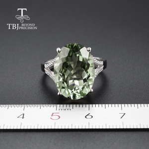 Image 3 - Big green amethyst Ring natural gemstone ring 925 sterling silver fine jewelry for girls nice Black Friday & Christmas gift