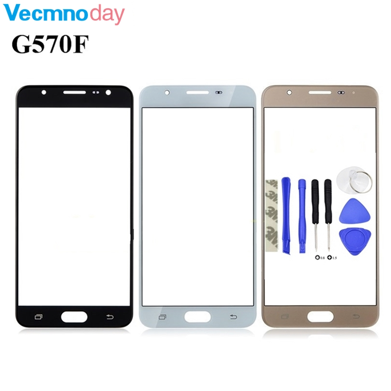 Vecmnoday Front Outer Glass Lens Cover Replacement Touch Screen Lens For Samsung Galaxy J5 Prime G570 G570F On5 2016