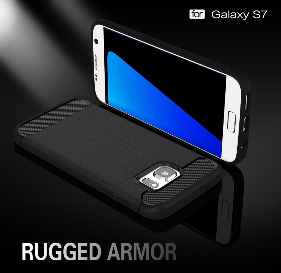 Anti mengetuk Batal Pelindung Kasus Untuk Samsung galaxy Kasus S7 - Aksesori dan suku cadang ponsel - Foto 3
