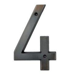 Wieku brązu 152mm bardzo duży dom numer drzwi adres cyfry stopu cynku przykręcane drzwi domowe adres znak #4