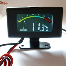 Sepp motorcycle water temperature meter digital thermometer temp gauge with color screen auto sensor for all cars все цены