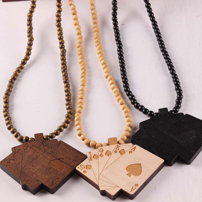 Free shipping wholesale fashion poker necklace pendants goodwood free shipping wholesale fashion poker necklace pendants goodwood pendant hiphop accessories hip hop wood necklaces jewelry aloadofball Gallery