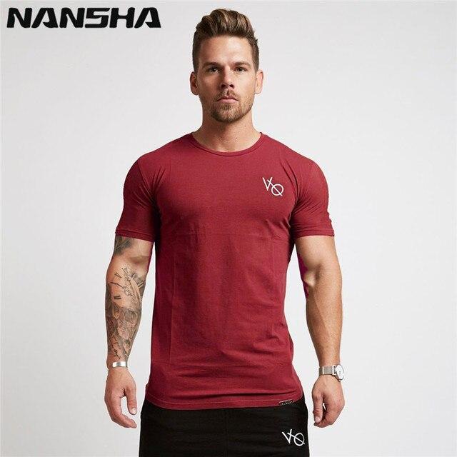 4be16ed6db5fbf NANSHA 2018 men cotton Gyms men t shirt Fitness bodybuilding shirts male  Brand tees short sleeve gyms t-shirt men costume