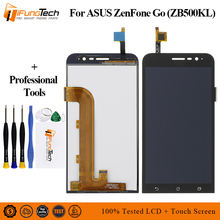 цены Free Shipping LCD For ASUS ZB500KL LCD Display Touch Screen Digitizer Assembly with Frame Replacement for ASUS Zenfone Go X00AD