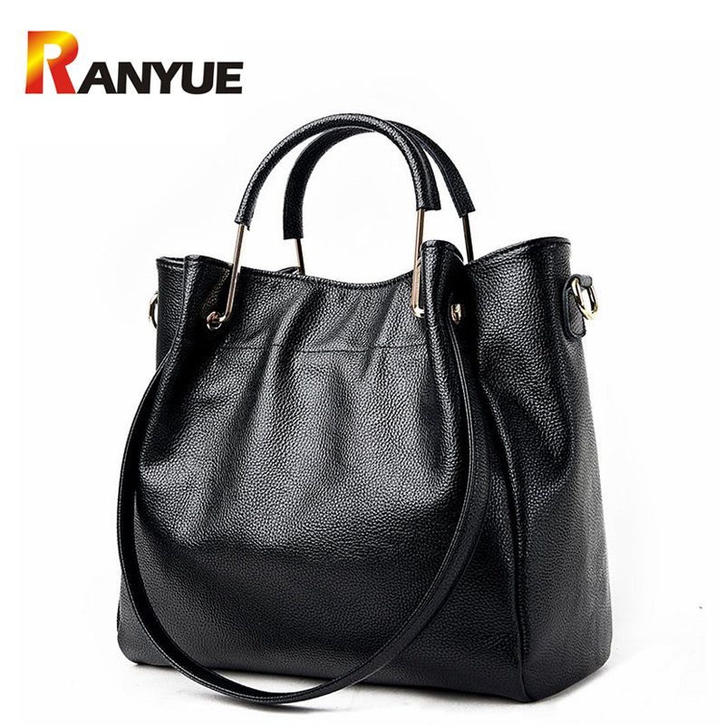 Women Genuine Leather Handbags Famous Brand Tote Bag