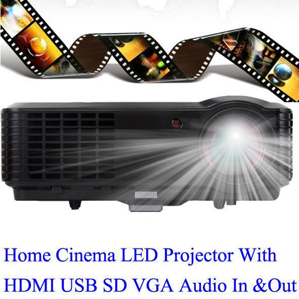 Огромный кинотеатр жк-проектор 2800 Lumens tft-hdmi USB Proyector высокое качество изображения HD из светодиодов Projecteur поддержка PS портативных пк