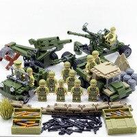 New LegoINGlys 4 in 1 US Army Military World War 2 SWAT Soldier Weapon Gun Building Blocks Bricks Figures Boy Toy Gift Children