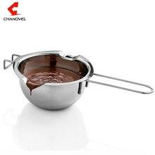 Heißer Verkauf Edelstahl Schokolade Melting Pot Ofen Erhitzt Milch Schüssel mit Griff Erhitzt Butter Werkzeug Backen Gebäck Werkzeuge