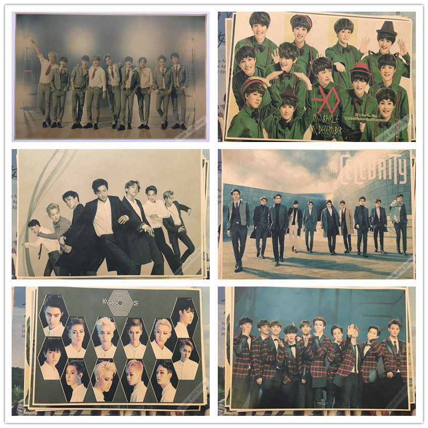 Classic idol EXO Music Vintage Retro Decorative Frame ...