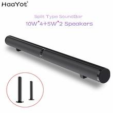 HAAYOT سبليت نوع 50 واط HIFI سماعة لاسلكية تعمل بالبلوتوث مكبر صوت ستيريو الصوت دعم USB بصري RCA HDMI مضخم صوت للتلفزيون صوت بار
