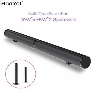 Image 1 - HAAYOT פיצול סוג 50W HIFI אלחוטי Bluetooth רמקול סטריאו Soundbar תמיכה USB אופטי RCA HDMI סאב עבור טלוויזיה קול בר