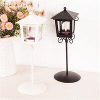 For Za Kka Fashion Street Lamp Iron Glass Hurricane Lantern Mousse Decoration Home Decoration Lantern Day