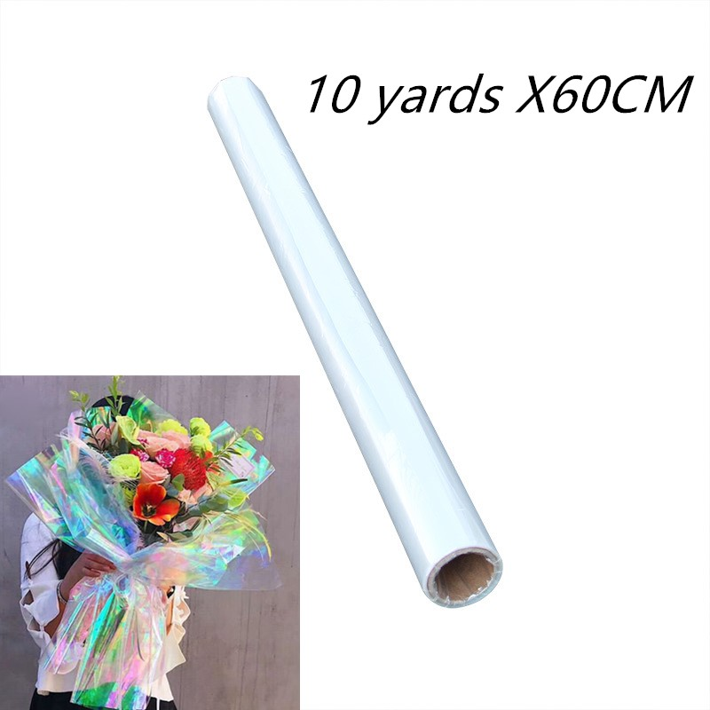 tinted cellophane CHOOSE COLOUR gift wrapping packaging 20m x 80cm LEAF clear