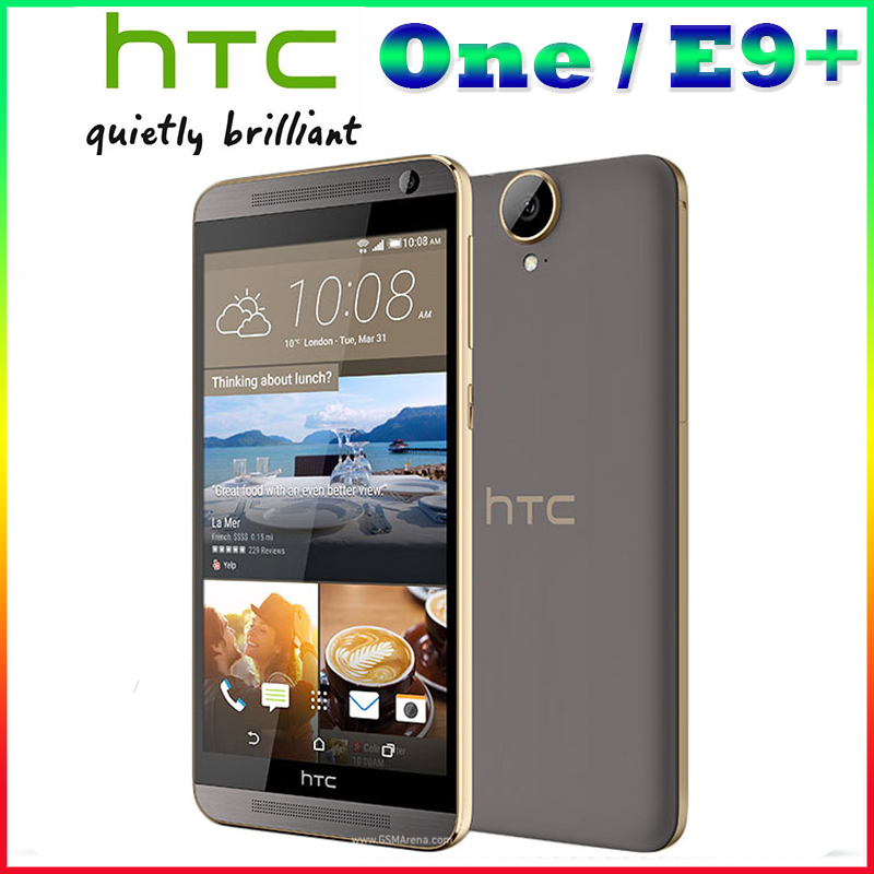 100% Origina unlocked HTC One E9+ E9PW plus mobile phone MTK6795 Octa Core 3GB+32GB 20MP 5.5 inch 2K 2560 x 1440 pixels phone
