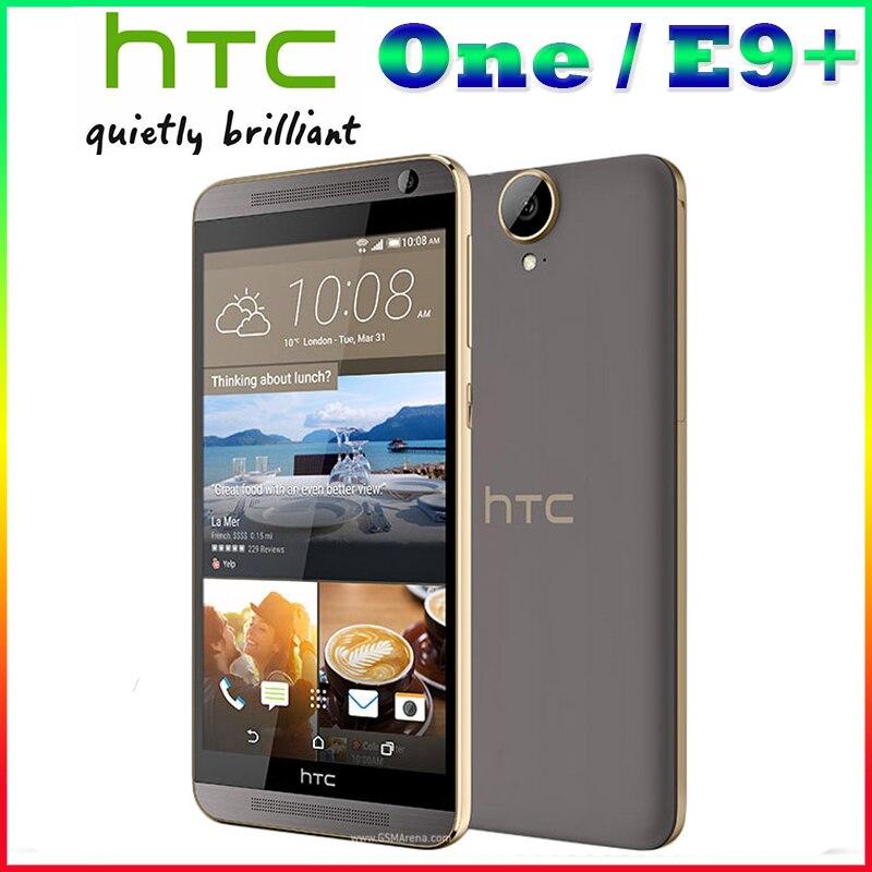 100% Origina unlocked HTC One E9+ E9PW plus mobile phone MTK6795 Octa Core 3GB+32GB 20MP 5.5 inch 2K 2560 x 1440 pixels phone