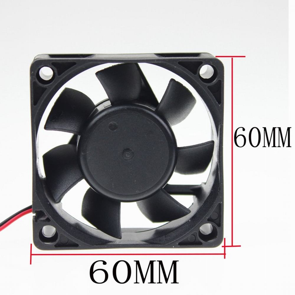 Gdstime 1 Piece DC 12V 6cm 60mmx60mmx25mm 6025 2Pin Sleeve 0.24A Plastic Machine Equiment Cooling Fan PC Cooler Free shipping free shipping y s tech 6cm 60 60 10mm 6 6 1cm 6010 fd126010hb 12v 0 24a 3wire cooling fan