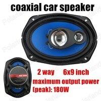 Высокое качество авто дверь компонентная акустика 2 шт. 2 путь 2x180 Вт 6x9 дюймов car audio стерео колонки коаксиальный динамик автомобиля