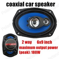 top quality auto door component speakers 2 pcs 2 way 2x180W 6x9 inch car audio stereo speakers coaxial car speaker